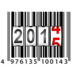 2015 new year counter barcode vector