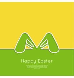 Easter bunny ears vector