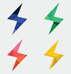 Lightning icon abstract triangle vector
