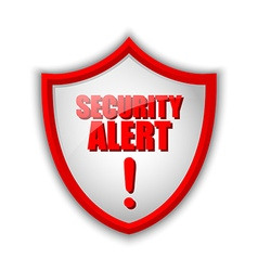 Security alert shield vector