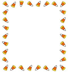 Candy corn border vector