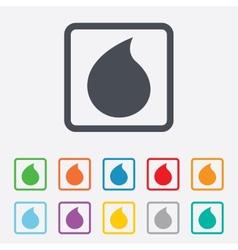 Water drop sign icon tear symbol vector