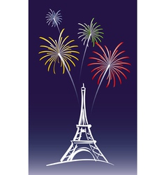 New year in paris vector