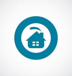 Cozy home icon bold blue circle border vector