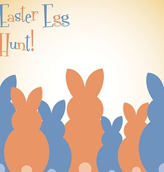 Overlay easter bunny card in format vector