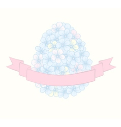 Beautiful easter greeting card with flowers vector