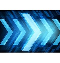 Abstract technology arrows vector
