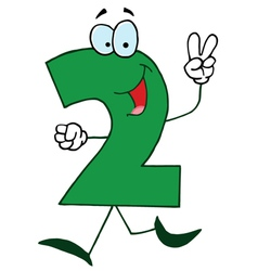Funny cartoon numbers-2 vector