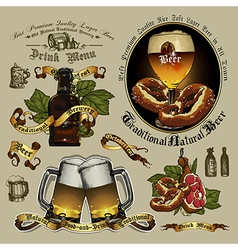 Beer designs vector