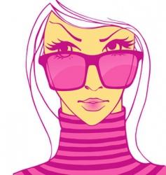 Sunglasses women vector
