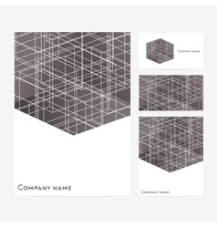 Stationery template design with square elements vector