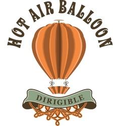 Hot air balloon in retro style vector