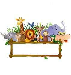 Animal cartoon group vector