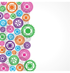 Colorful gear background vector