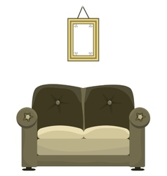 Sofa and painting vector