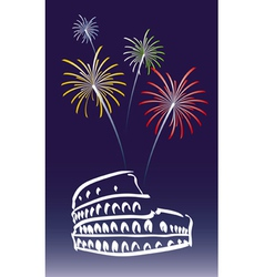New year in rome vector