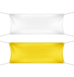 White and yellow blank empty horizontal banners vector