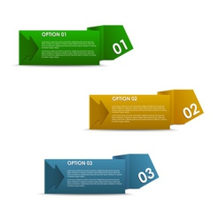 Horizontal of colorful paper options vector
