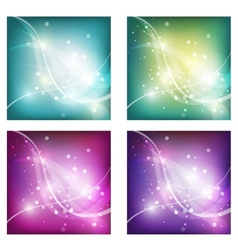 Abstract freshness background with shiny bokeh vector
