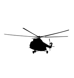 Silhouette of the helicopter vector
