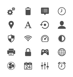Setting flat icons vector
