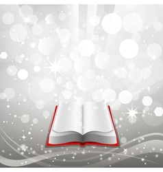 Open book on a gray background vector