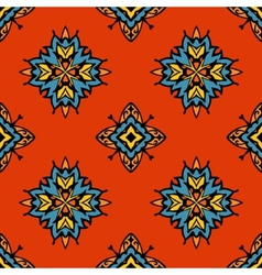 Abstract tribal seamless tiled design vector