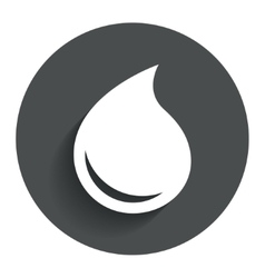 Water drop sign icon tear symbol vector