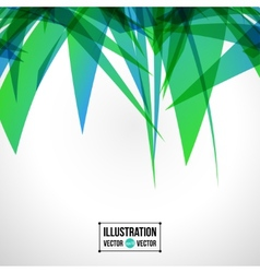 Abstract background of green fragments vector