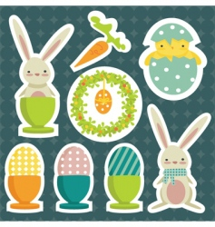 Easter stickers vector