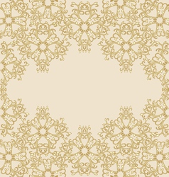 Gold ornamental background vector