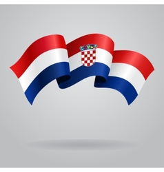 Croatian waving flag vector