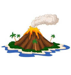 Volcanic island vector