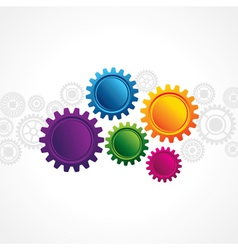 Abstract design with copy space in cog wheel vector