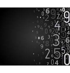 Background from numbers vector