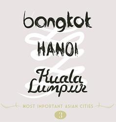 Bangkok hanoi kuala lumpur vector
