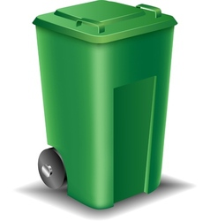 Green street trash can vector