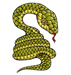 Snake symbol of the year vector