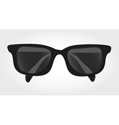 Glasses with black lenses isolated on blue backgro vector