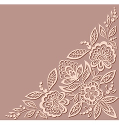 Floral pattern a design element in the old style vector