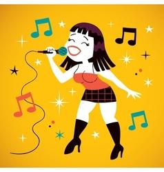 Sexy girl singing vector