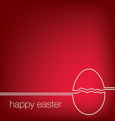 Continuous line easter egg card in format vector