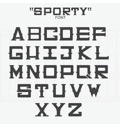 Font of sports theme vector