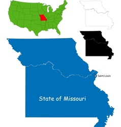 Missouri map vector