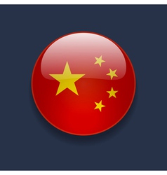 Round icon with flag of china vector
