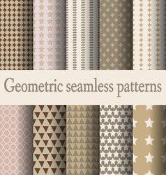 Brown geometric seamless pattern vector