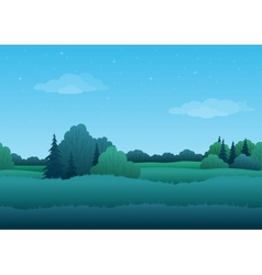 Seamless background summer landscape vector