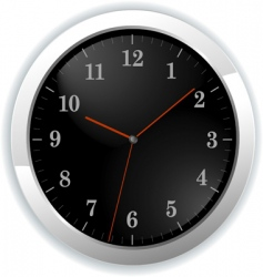 Illustration of wall clock vector