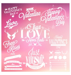 Valentines day signs vector