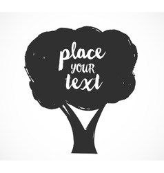 Tree  background with a place vector
